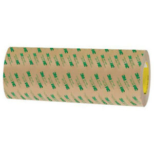 Adhesive Transfer Tape Hand Rolls 12 X 60 Yds 2 Mil Clear 3m 467mp Lot Of 1