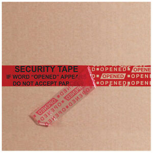 2 5 Mil Security Tape 2 x60 Yds Red 1 Pack Lot Of 1