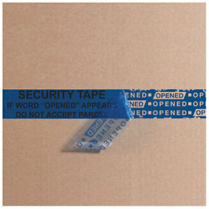 2 5 Mil Security Tape 3 x60 Yds Blue 1 Pack Lot Of 1
