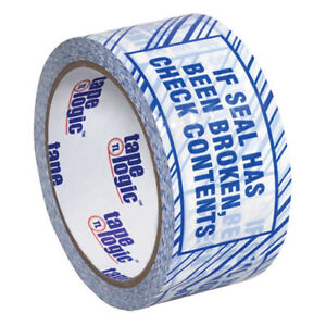 2 x110 Yds Security Tape if Seal Has Been Broken Check Contents 6 pack Lot