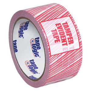 3 x110 Yds Security Tape tamper Evident 6 pack Lot Of 6