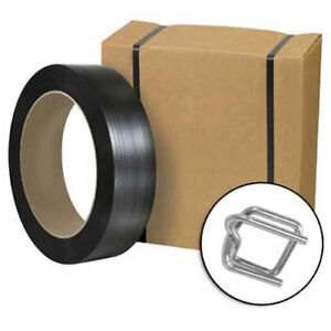 Jumbo Poly Strapping Kit 1 2 X 9 000 Coil Cutter 1 000 Buckles Lot Of 1