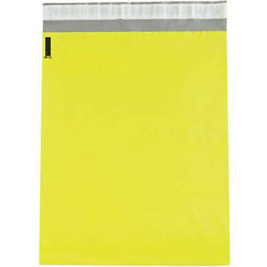 2 5 Mil Colored Poly Mailers 12 x15 1 2 Yellow 100 Pack Lot Of 1