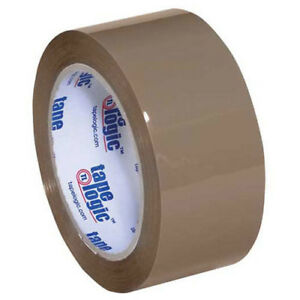 350 Industrial Tape 2 x55 Yds 3 5 Mil Tan 6 pack Lot Of 1