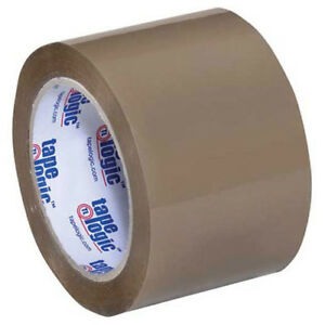 350 Industrial Tape 3 x55 Yds 3 5 Mil Tan 6 pack Lot Of 1