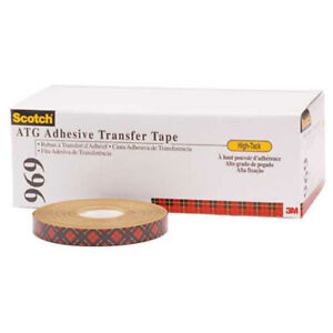 Adhesive Transfer Tape 1 2 X 36 Yds 5 Mil Clear Pack Of 6 3m 969 Lot Of 6