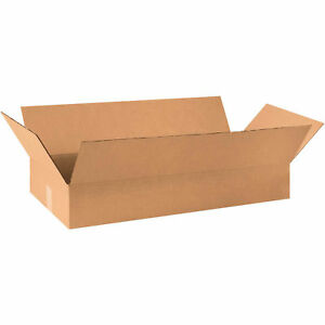 30 x12 x4 Corrugated Boxes 200 Lb Test ect 32 Kraft 25 Pack Lot Of 25