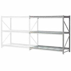 Extra High Capacity Bulk Rack With Wire Decking Add on Unit 72 w X 36 d X