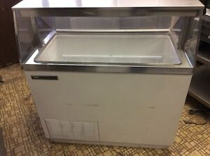 4 Ft Ice Cream Dip Cabinet With Can Holders Hold 8 Tubs 115v Exceptional