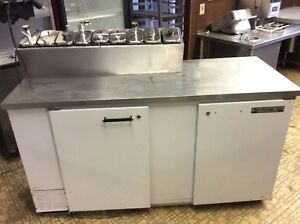 Ice Cream Topping Cabinet syrup Rail Perfect Working Condition 2 Door