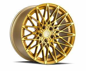 19x9 5 Aodhan Ls001 5x120 30 Gold Machined Face Rims Set Of 4