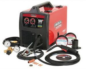 Lincoln Electric Wire Feed Welder 180 amp 2 knob Flux cored Control Spool Gun
