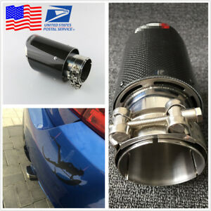 Real Carbon Fiber Car Suv Exhaust Pipe Muffler End Tips For Car 63mm 89mm Gloss