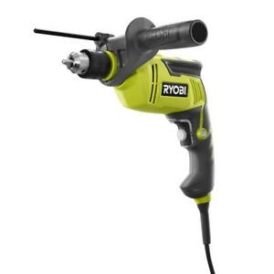 1 2 In Variable Speed Hammer Drill Corded 6 2 Amp Auxiliary Handle Trigger Lock