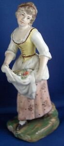 Early 19thc Staffordshire Pearlware Lady Figurine Figure Figur English England