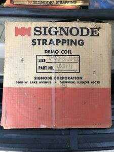 Roll Sinode Portable Steel Strapping Coil 3 4 X 020 X 300 Usa