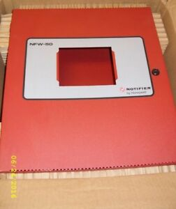 Notifier honeywell Fire Alarm Control Panel cabinet Only Nfw 50 as Is