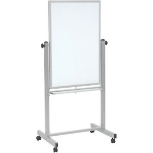 Mobile Double Sided Magnetic Whiteboard 24 w X 36 h Lot Of 1