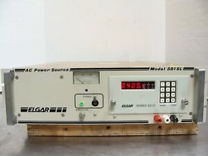 Elgar 501sl Ac Power Supply Source 500va 115v In 0 260v Out Series 9012 Control