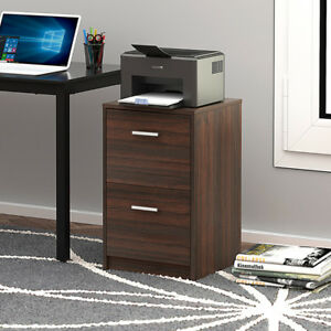 Devaise 2 Drawer Wood Filing Cabinet Night Stand Organizer Office Cabinets