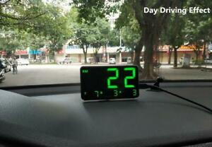 C80 Full Screen Driving Speed By Big Size Numbe Gps Speedometer Hud Display