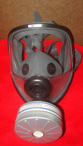 North By Honeywell 54401 5400 Full Face Respirator With Extra Filter New