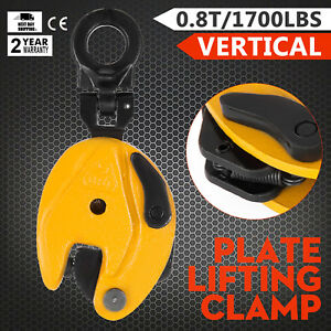 1760lbs V lift Vertical Plate Lifting Clamp 0 0 6inch Localfast Heavy Duty