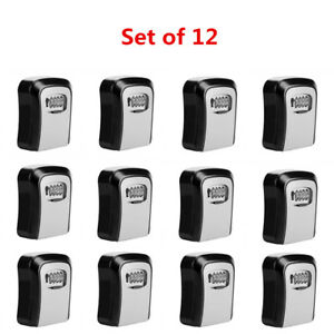 12x 4digit Combination Key Safety Security Storage Box Lock Wall Mount Organizer