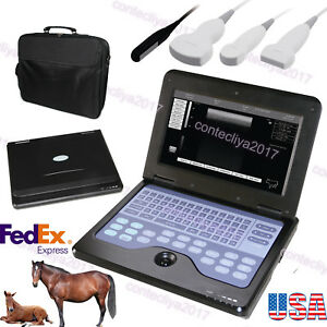 Usa Vet veterinary Laptop Ultrasound Machine scanner 3 Probes Cms600p2 Contec