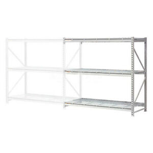 Extra High Capacity Bulk Rack With Wire Decking Add on Unit 96 w X 18 d X