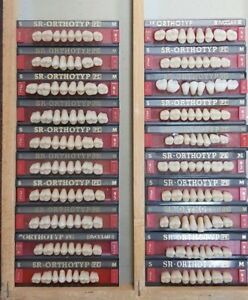 Lot X 20 Dental Lab Acrylic Teeth Dentures Vivadent Ivoclar Sr Orthotyp Pe Mix
