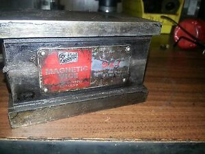 Eclipse Sheffield England Toolmakers Magnetic Grinding Vise Charmilles Edm Vice
