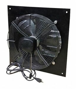 1 2 Hp 24 dia 115vacv Shutter Mount Exhaust Fan 26 Square Opening Required