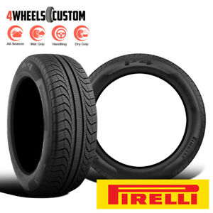 2 X New Pirelli P4 Four Seasons Plus 205 55r16 91y All Season Touring Tires