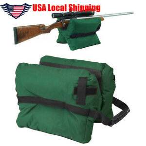 US Front & Rear Shooter's Gun Rest Sand Bags Shooting Bench for Outdoor Activity