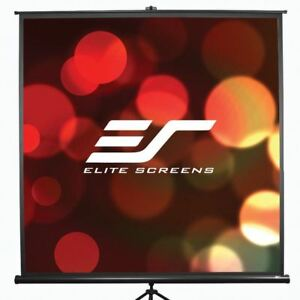 Elite Screens Tripod Series White 50 Diagonal Portable Projection Screen