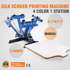4 Color 1 Station Silk Screen Printing Machine T shirt Manual Print Pro