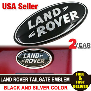 Land Rover Lr3 Sport Range Rover Discovery Rear Tailgate Emblem Black Oval Badge
