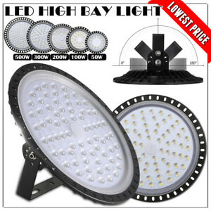 500w Ufo Led High Bay Light 300w 200w 100w 50w Factory Warehouse Shop Lighting