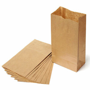 Brown Kraft paper Bags Gift Food Candy Weddingpart Bags High Quality Us Seller