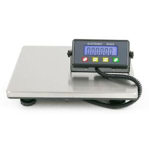 440 Lbs Digital Floor Bench Platform Postal Scale Lcd Display Kg lb 200kg