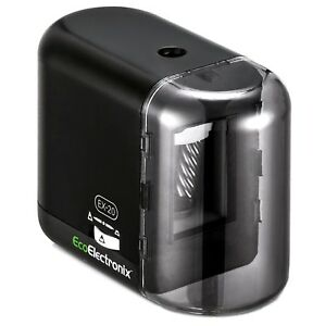 Electric Pencil Sharpener Battery Ac Powered Compact Durable adapter Included