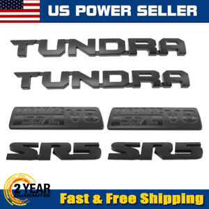 Fit Toyota Tundra Matte Black Out Emblem Badges Tailgate For 2000 2019 Tundra 6p