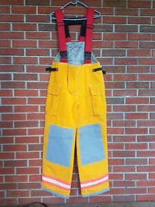Firefighter 34 32 Bib Pants Turnout Bunker Fire Gear Securitex Model S60cjy