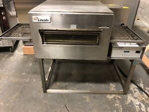 Lincoln Impinger 1130 Electric Conveyor Pizza Sub Oven On Stand Single Phase