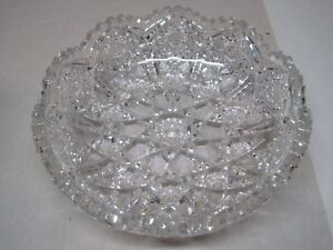 Antique American Brilliant Period Cut Glass Bowl