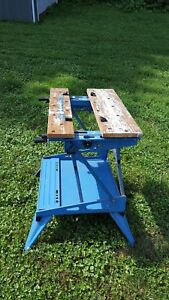VINTAGE BLUE BLACK AND DECKER WORKMATE WORKBENCH HEAVY DUTY
