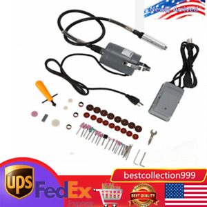 Electric Flexible Shaft Die Grinder Rotary Tool Variable Speed FootPedal Kit TOP