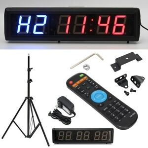 2 3 Programmable Led Interval Timer Big Stopwatch Home Gym Crossfit Fitness