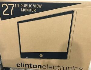 Clinton Electronics Wren Ce m27s Public View Color Lcd 27 Monitor W Camera